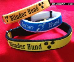Hundehalsband Blinder Hund/ Tauber Hund