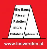 gebrauchte Bags, Fässer, IBC Tanks, Paletten, Oktabins