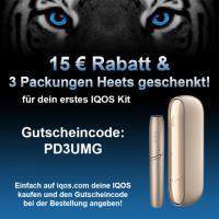 IQOS3 Duo / IQOS Multi - 15€ Rabatt + 3 Packungen Heets geschenkt