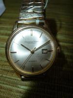 Foto 2 IWC Schaffhausen Herrenarmbanduhr Automatik Gold mit Datum Baujahr 1960