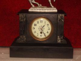 Foto 3 Ich biete eine einzigartige Uhr aus Marmor - France 1900.