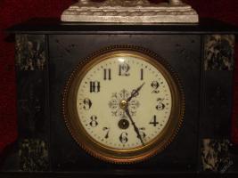 Foto 5 Ich biete eine einzigartige Uhr aus Marmor - France 1900.