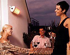 Ihre Terrasse mit dem besten Terrassenstrahler. Thermstar2000 IP65.