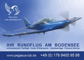 Individuelle Bodensee-Rundflüge: die unvergeßlichen Erlebnis-Highlights