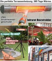 Foto 2 Infrarot Heizstrahler für Bad, Terrasse, Balkon. Noch sind die Sommerpreise aktuell.