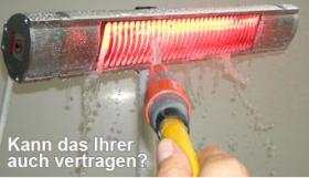 Foto 5 Infrarot Heizstrahler für Bad, Terrasse, Balkon. Noch sind die Sommerpreise aktuell.