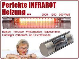 Foto 6 Infrarot Heizstrahler für Bad, Terrasse, Balkon. Noch sind die Sommerpreise aktuell.