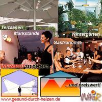 Infrarot Heizstrahler sind perfekt für Terrasse, Ferienhaus, Wohnmobil, Garten, usw.