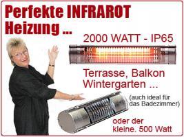 Foto 5 Infrarot Heizstrahler sind perfekt für Terrasse, Ferienhaus, Wohnmobil, Garten, usw.