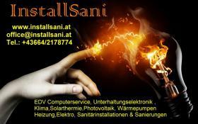 InstallSani  EDV-Elektro-Sanitärinstallationen & Sanierungen