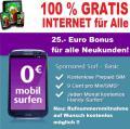 Internet Flatrate dauerhaft gratis ohne Schufa und Bonitätsprüfung, Handyvertrag für ALLE!!