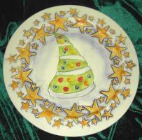 Foto 2 Italienische Weihnachtsteller - Bassano Keramik