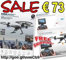 JXD 509G RC Drone Quadcopter FPV 2.0MP HD Cam nur € 73