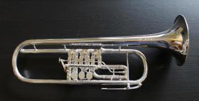 J. Scherzer Profiklasse Konzert -Trompete in B, Kölner Modell 8218 W versilbert