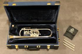 Foto 5 J. Scherzer Profiklasse Konzert -Trompete in B, Kölner Modell 8218 W versilbert