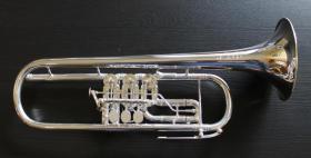 Foto 6 J. Scherzer Profiklasse Konzert -Trompete in B, Kölner Modell 8218 W versilbert