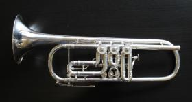Foto 7 J. Scherzer Profiklasse Konzert -Trompete in B, Kölner Modell 8218 W versilbert