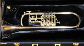 Foto 8 J. Scherzer Profiklasse Konzert -Trompete in B, Kölner Modell 8218 W versilbert