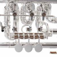 Foto 10 J. Scherzer Profiklasse Konzert -Trompete in B, Kölner Modell 8218 W versilbert