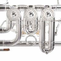 Foto 11 J. Scherzer Profiklasse Konzert -Trompete in B, Kölner Modell 8218 W versilbert