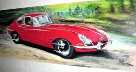 Jaguar E-Type Gemälde