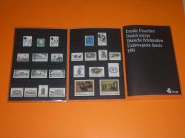 Foto 2 Jahresmappen mit dänischen Briefmarken