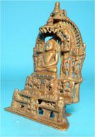 Foto 2 Jaina-Altar, Messingschreine, Hausaltar, Tirthankara Pärsva, Jain-Religion, Indien, Gelbguss, Skulptur, Jainismus,1627