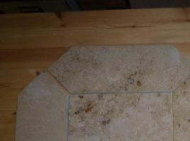 Jura Marmor/Solnhofer Platten, poliert, in Rosenspitz geschnitten