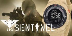 KHS Militär Uhr, KHS Sentinel DC - Digital Alarm Chronograph mit Digital Compass