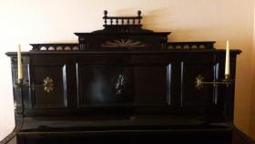 Foto 2 KLAVIER, PIANO mit Hocker, RARITÄT, ANTIK, ca 200 Jahre alt,