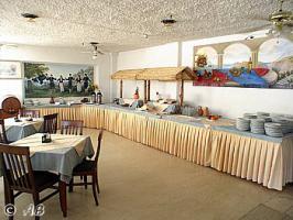 Das Restaurant mit Frühstücks- und Abendbuffet