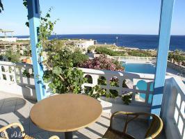 Ein Balkon mit Meerblick in der ''Oase am Meer''