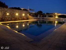 Abendstimmung am Pool in der  ''Oase am Meer''