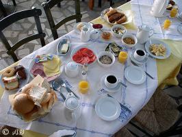 So könnte Ihr Frühstück aussehen. Sie können Frühstück und Halbpension