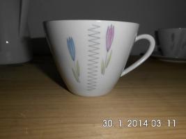 Foto 3 Kaffeeservice für 2 Personen mit Tulpendekor