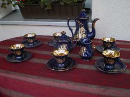 Kaffeeservice Kobalt Blau für 6 Pers.