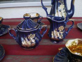 Foto 4 Kaffeeservice Kobalt Blau für 6 Pers.