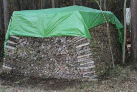 Kaminholz Haufen mit 42,5 RM vorwiegend Laubholz mit 50cm Länge; Ofenholz, Brennholz