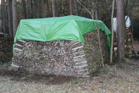 Foto 2 Kaminholz Haufen mit 42,5 RM vorwiegend Laubholz mit 50cm Länge; Ofenholz, Brennholz