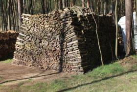 Foto 4 Kaminholz Haufen mit 42,5 RM vorwiegend Laubholz mit 50cm Länge; Ofenholz, Brennholz