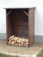 Kaminholzschrank, Kaminholzregal, Holzregal, Stapelhilfe