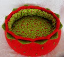 Foto 3 Katzenkörbchen aus Schurwolle