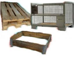 Kauf u. Verkauf: Holzpaletten, sowie passende Palettenrahmen aus Holz (auch Gitterboxen)