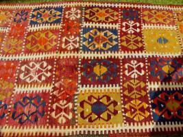 Foto 2 Kazak Kasak Kelim antik 390x126 (T012)