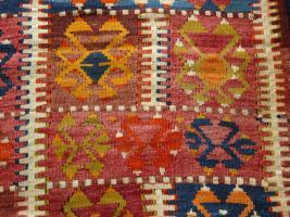 Foto 9 Kazak Kasak Kelim antik 390x126 (T012)