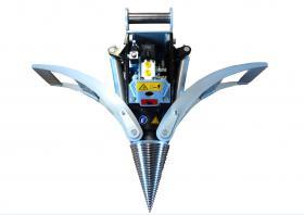 Foto 3 Kegelspalter mit Greifer Black Splitter SG1 / Holzspalter / Erdbohrer / Holzgreifer