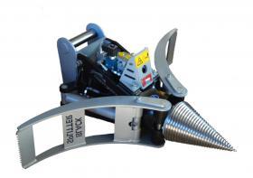 Foto 4 Kegelspalter mit Greifer Black Splitter SG1 / Holzspalter / Erdbohrer / Holzgreifer