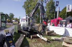 Foto 5 Kegelspalter mit Greifer Black Splitter SG1 / Holzspalter / Erdbohrer / Holzgreifer