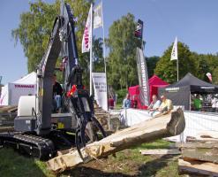 Foto 7 Kegelspalter mit Greifer Black Splitter SG1 / Holzspalter / Erdbohrer / Holzgreifer