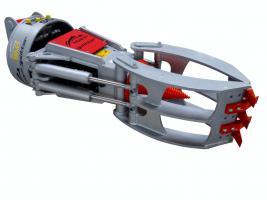 Kegelspalter mit Greifer Black Splitter SG3 / Holzspalter / Erdbohrer / Holzgreifer